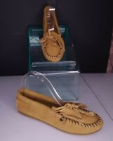 Minnetoka Leather Moccasins Size 7.5 Brown