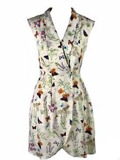 Oasis Butterfly Floral Party Summer Wedding Holiday Wrap Front Dress, Size 8