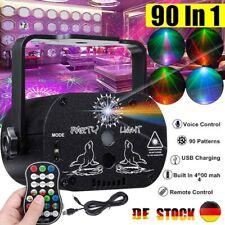 90 Muster Lichteffekt RGB LED Laser DJ Projektor Disco Party Bühnenbeleuchtung