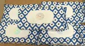 5 Packs - The Honest Company Plant-Based Wipes Blue Ikat 72 Wipes (Total 360)