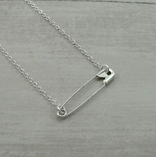 Solidarity Safety Pin Movement Necklace - Safe Place - Stronger Together Jewelry