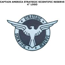 "CAPTAIN AMERICA STRATEGIC SCIENTIFIC RESERVE 4"" EMBROIDERED PATCH US SELLER"