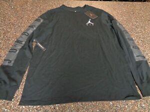 Nike Air Jordan Men's Large Long Sleeve Black T-Shirt Standard Fit NWT