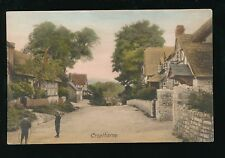 Worcestershire Worcs CROPTHORNE Village scene local children hoop pre1919 PPC