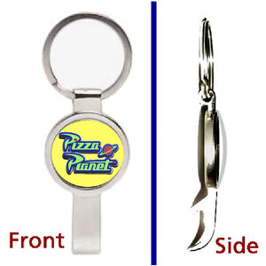 Toy Story Pizza Planet Promo Prop Pendant Keychain silver secret bottle opener