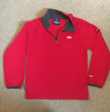 Excellent Condition Red Fleece Zip Front Jumper From Trespass Age 7-8 Boys Girls