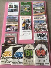 Motor Racing Programmes 1980's