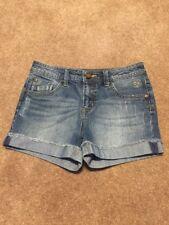 Girls Justice Medium Wash Jean Shorts Size 12