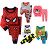 Boy Girls Cartoon Pyjamas Kids Tracksuit Outfits T-Shirt Bottoms 1-8T Christmas