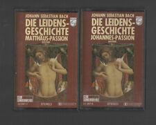 2 x MC - Joh. Seb. Bach - Die Leidens-Geschichte - Johannes- / Matthäus-Passion