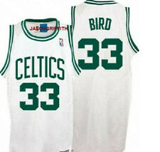 NBA LARRY BIRD Boston Celtics  #33 SWINGMAN JERSEY WHITE   S  M  L   XL