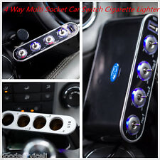 DC 12V/24V 4 Way Multi Socket Car Switch Cigarette Lighter Ports Adapter Charger