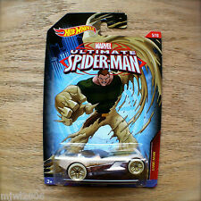 Hot Wheels ULTIMATE SPIDER-MAN Sand Man ETTORIUM Marvel 5/10 Mattel New diecast