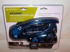 DYNAMO Emergency FLASHLIGHT RADIO & SIREN  4-Way Power SOLAR Crank AC/DC Battery