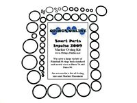 Smart Parts Impulse 2009 Paintball Marker O-ring Oring Kit x 4 rebuilds / kits