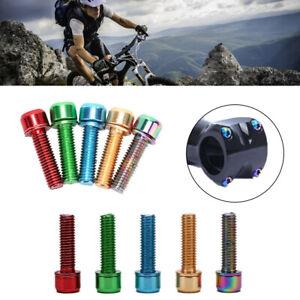 6 pcs Bicycle Stem Bolt Kit M5*18mm Anodized Anti-Rust Road/MTB Bike Hardware.