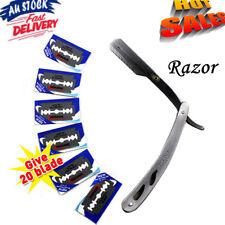 Professional Razors Barber Salon Straight Cut Throat Shaving Razor With 20 Blade