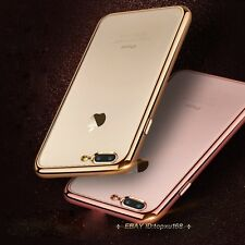 Luxury Slim Crystal Clear Soft TPU Rubber Silicone Case Cover For iPhone 7 7Plus