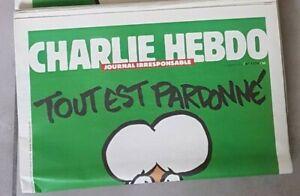 """CHARLIE HEBDO """"tout est pardonné"""" n° 1178 mercredi 14 janvier 2015 - Neuf !"""