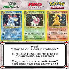 🍀Carte Pokémon RARE SET NEO GENESIS italiano lotto Pokemon Spedizione unica🍀