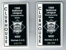 RARE 2 Lot of 1989 NLCS Clubhouse Pass Badges San Francisco Giants Chicago Cubs