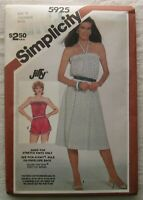 Vintage Dress Romper Sewing Pattern*Simplicity 5925*Size 12-16*UNCUT/FF*sundress