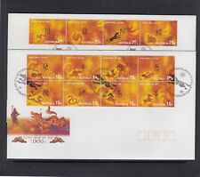 CHRISTMAS IS  2006  Year of the DOG  Zodiac set of 12 on 2 FDCs.