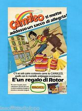 TOP985-PUBBLICITA'/ADVERTISING-1985- CAMALEO LO ZAINO CON MANTELLA ANTIPIOGGIA