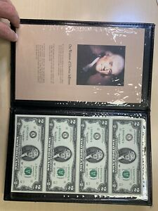 2003 $2 Note Uncirculated Uncut 1/4 Sheet & Book