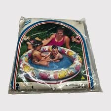 """The Wet Set 44"""" x 10"""" Ring Pool Inflatable Vintage 1999 Hipo Elephant Tiger"""