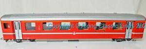 Bemo 3276 582, Ho-e ,  First Class Coach BVZ Zermatt-Bahn red and silver