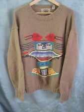 SARATOGA by Robert Peritz Aztec ~ Southwestern Sweater Size Large 100% Wool