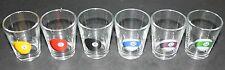 Shonfeld's POOL TABLE SHOT SET. 6 Novelty Shot Glasses