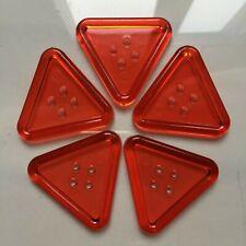 Lot de 5 grands boutons - Acrylique orange triangle 48 mm