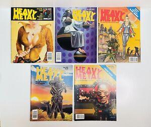 5 Vintage Heavy Metal Illustrated Fantasy Magazines 1982 (Apr,May,Jun,Jul,Aug)