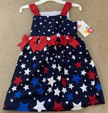 New! Girls JESSICA ANN Patriotic America Star Stripe Dress Size 6 MSRP: $26.00