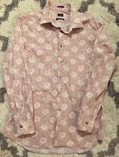 Paul Smith London Pink Floral Print Slim Fit Button Up Shirt 16 1/2 42 Italy