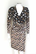 "DVF Diane von Furstenberg ""Begona"" silk wrap dress us 0 uk 4-6"