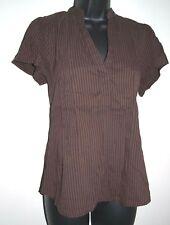 H&M Women's Size 16 Brown VNeck Cap Sleeve Blouse