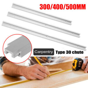 Aluminium Alloy T Track T-Slot 300-500mm Slider Miter Jig Woodworking Tool New