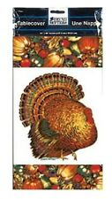 Autumn Turkey Paper 54 x 96 Fall Thanksgiving Tablecover