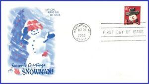 USA3 #3683 U/A ARTCRAFT FDC   Snowman Red Plaid Scarf s/a