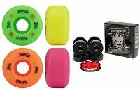 Bones Wheels 100's OG Multi Colour 52mm V1 + Spitfire Skateboard Bearings