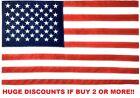 3' x 5' FT USA US U.S. American Flag Polyester Stars Brass Grommets