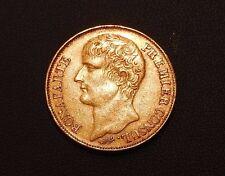 Pièce OR. 40 Francs. BONAPARTE PREMIER CONSUL. AN 12 A. SUP. Tiolier