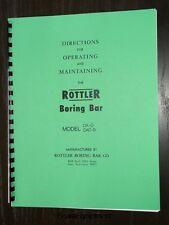 Rottler Model DA-O & DA-OB Boring Bar Instruction Manual