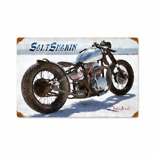 Salt caderas Motorcycle Chopper salado racing retro sign chapa escudo Escudo nuevo