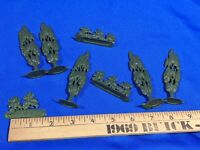 LOT Plastic Celluloid VTG Toy Model Trees Bush Shrub Mini Railroad Town Train HO