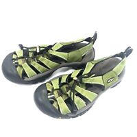 KEEN Waterproof Women's Shoes Size 9 Green Black Hiking Sandals Cinch Cord