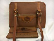 Vintage Dooney & Bourke Handbag And Wallet Leather Shoulder Bag Brown